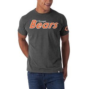 NFL Chicago Bears Men's Fieldhouse Basic Tee, Large, Blacktop Grey