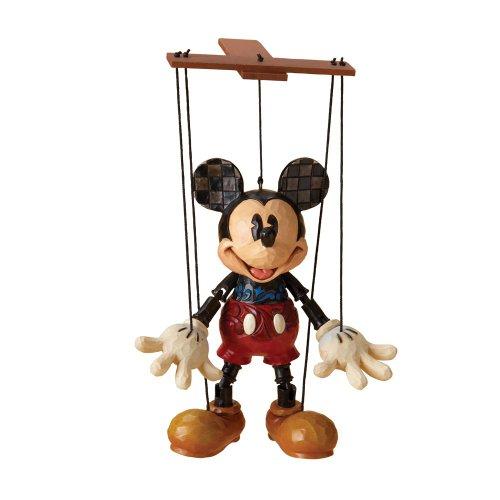 エネスコ ディズニートラディション 木彫り調フィギュア マリオネット ミッキー ミッキーマウス 4023576 「並行輸入品」