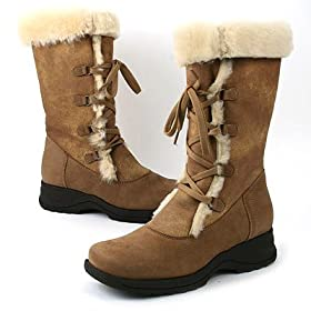 La Canadienne -- *Annabelle Camel Shearling 8678172 -- Women's Shoes,Boots