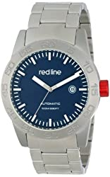 red line Men's RL-50045-33 Mileage Analog Display Japanese Automatic Silver Watch