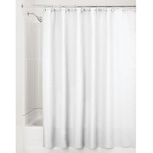 InterDesign York Shower Curtain, White (White Cotton Shower Curtain compare prices)