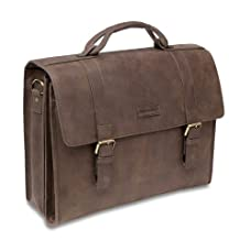 Hartmann Leather Business Cases Hudson Double Compartment Briefcase