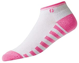 Buy Foot Joy Ladies ProDry Golf Sock, Short, Pink White by FootJoy