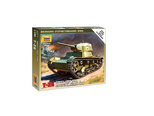 Zvezda Models 1/100 Soviet Tank T-26 (Snap Kit)