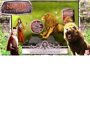 Picture of Jakks Pacific The Chronicles of Narnia: Prince Caspian 3.75 Inch Beast Riders Wave 1 Lucy & Aslan Action Figure 2-Pack (B0013K3GBQ) (Jakks Pacific Action Figures)