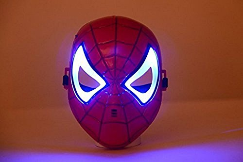 Oliadesign® Comics Costume Superhero LED Light Eye Mask (Spiderman)