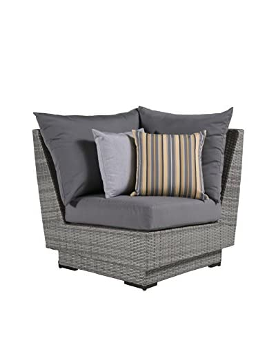 RST Brands Cannes Corner Chair, Grey As You See