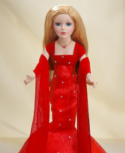 Buy Birthstone Porcelain Doll Ruby July Elegant, Collectible Doll with Incredibly Realistic Features