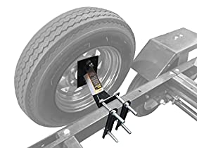 MaxxTow Towing Products 70214 Powder Coat Black Trailer Spare Tire Carrier