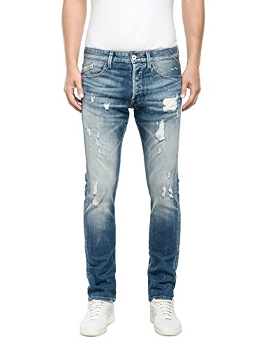 Replay Waitom-Pantaloni Uomo,    Blu (Blue Denim 10) W34/L36 (34)