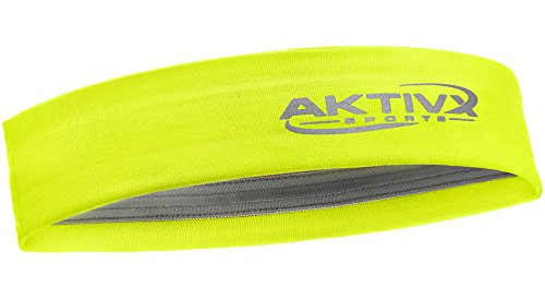 AKTIVX SPORTS Fitness Headband, Sports Headbands for Women, Fashion Headband, Running Headband, Women Headband, Men Headband, Yoga Exercise Headband - Neon Yellow