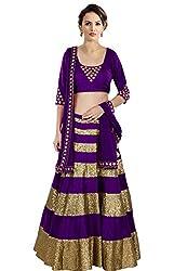 Rozdeal New Purple Embroidery Designer Lehenga Choli