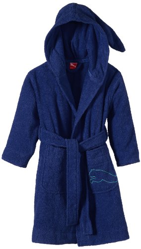 PUMA Kinder Bademantel Foundation Kids Bathrobe, Blueprint, 164, 511046 03