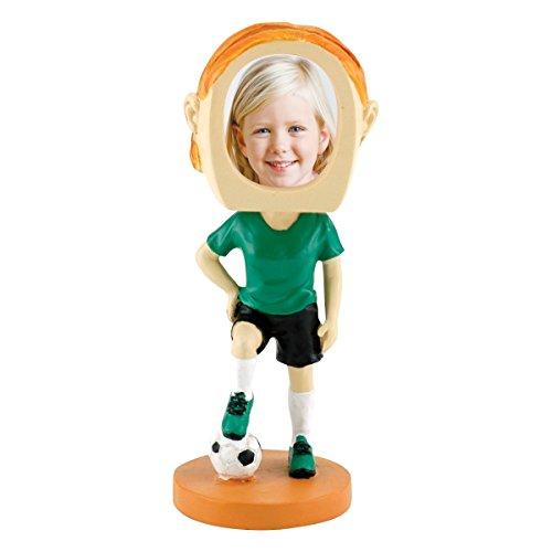 Female Soccer Player Photo Bobble Head