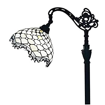 Amora Lighting AM122FL12 Jeweled Reading Floor Lamp 62 In