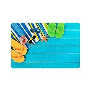 Flip Flops Doormat Entrance Mat Floor Mat Rug Indoor/Outdoor/Front Door/Bathroom Mats Rubber Non Slip Size 23.6 x 15.7 inches