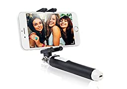 Pen Size Selfie Stick from FittSmile for iPhone 6 6S 5 5S 5C with Bluetooth GoPro Compatible