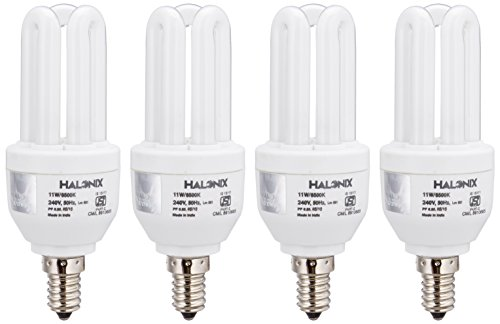 Halonix Super Saver 11W E14 3U CFL (Pack Of 4, Cool Day Light)
