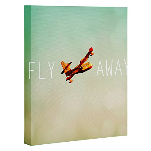 "DENY Designs Happee Monkee Fly Away Art Canvas, 8"" x 10"""