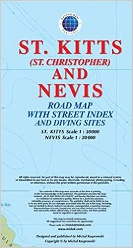 St. Kitts (St. Christopher) and Nevis Road Map 1:30K/20K