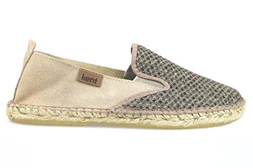 scarpe uomo KENT espadrillas beige tessuto camoscio AM905 (41 EU)