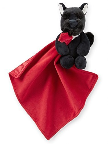 Carter's Red and Black Scottie Scotty Dog Snuggle Buddy Security Blanket - 1