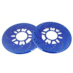 2 x Self Adhesive Decorative Royal Blue Brake Rotor Racing Covers Discs for Auto