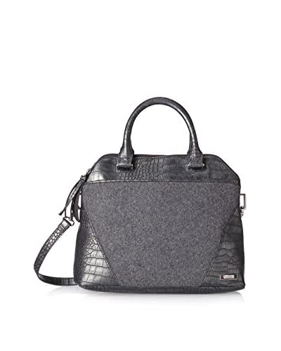 Kenneth Cole Reaction Women's 4 Easy Pieces Flannel with Crocodile Satchel