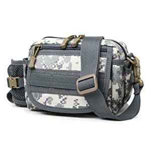 3.5L Outdoor Camping Multipurpose Water Resistant Waist Bag - ACU CAMOUFLAGE