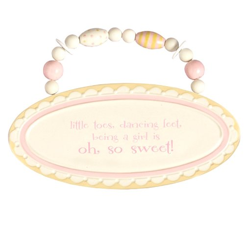 Grasslands Road Little Toes, Dancing Feet, Being A Girl Is So Sweet Plaque front-285671