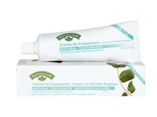 Nature's Gate Natural Toothpaste, Creme de Peppermint,