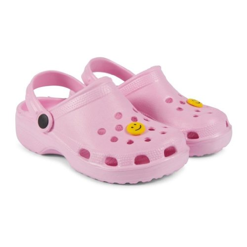Crocs Style Unisex-Kids, Boys/Girls Classic Le First Edition Backstrap Sandal Beach Clog Mule (UK Infant 4, Pink)