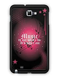 YuBingo Music is Who I am Designer Mobile Case Back Cover for Samsung Galaxy Note