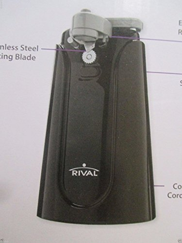Rival Electric Can Opener Black
