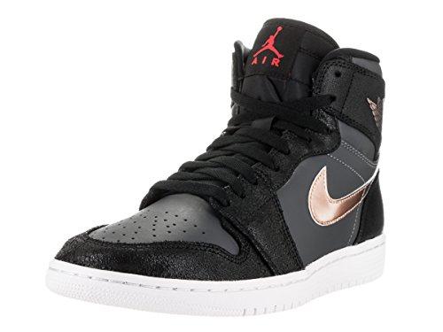 Nike Jordan Men's Air Jordan 1 Retro High Blk/Mtlc Rd Brnz Drk Gry White Basketball Shoe 9.5 Men US (Jordan New Shoes compare prices)