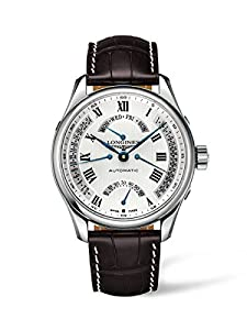Longines Master Collection Men's Automatic Watch with Silver Dial Analogue Display and Brown Leather Strap L27174713
