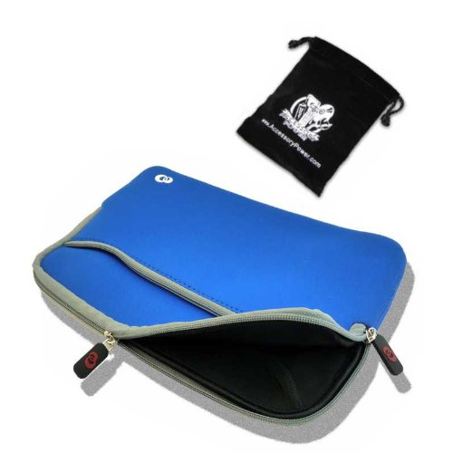 Sleek Form-Fitting Neoprene Netbook Sleeve for Acer Aspire One A150 / A110 / 751H 8.9-Inch and 10.1-Inch Series Netbooks ***Includes Accessory Bag***