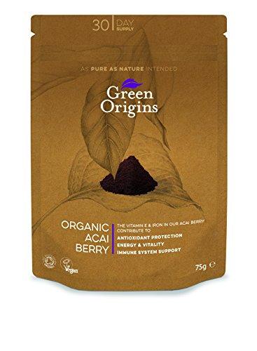 Green Origins Bio-Acai-Beeren-Pulver, 1er Pack (1 x 75 g)