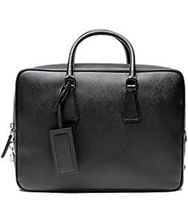 Amazon.com: Prada Women\u0026#39;s Saffiano Leather Hand Bag W/strap Red ...