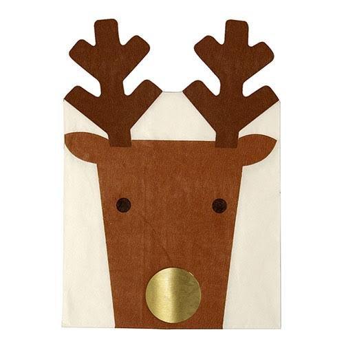 Meri Meri Die Cut Reindeer Napkin