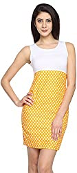 Texco Garments Women's A-Line Dress (26, White and Orange, XL)
