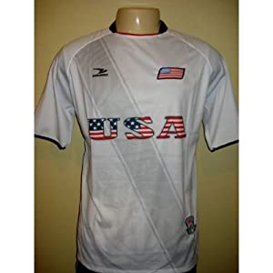 Buy 2010 SOUTH AFRICA WORLD CUP MENS USA PATRIOTIC UNITED STATES FLAG SOCCER JERSEY SIZE MEDIUM LARGE (ONE SIZE) by DRAKO INC