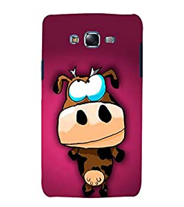 printtech Crazy Cartoon Cow Back Case Cover for Samsung Galaxy Grand 2 G7102 / Samsung Galaxy Grand 2 G7106