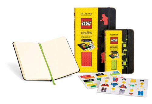 Moleskine Lego Red Brick Plain Large Black: Limited 