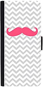 Snoogg Wave Mustache Designer Protective Flip Case Cover For Samsung Galaxy A8