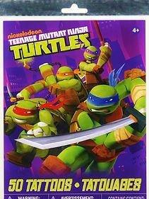 Teenage Mutant Ninja Turtles Temporary Tattoos, Package of 50