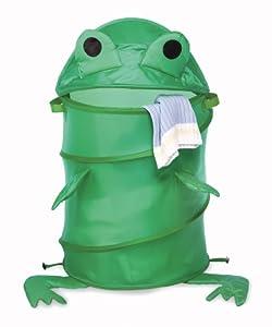 Whitmor 6256-3853 Kid's Frog Collapsible Laundry Hamper