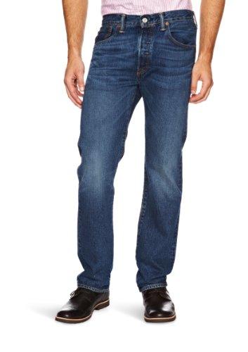 Levi's - 501 Levi's® Original, Jeans da uomo, blu (med indigo - worn in), 42W / 34L