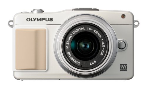 Olympus PEN E-PM2 Systemkamera (16 Megapixel, 7,6 cm (3 Zoll) Touchscreen, bildstabilisiert) Kit inkl. 14-42mm Objektiv weiß