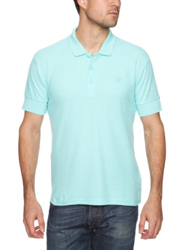 Fruit of the Loom Arizona Polo 2-Pack Men's T-Shirt Aqua/Bright Pink Medium
